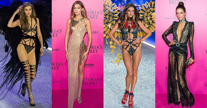 From the runway to the pink carpet, this is how Victoria's Secret models get ready for an after party.