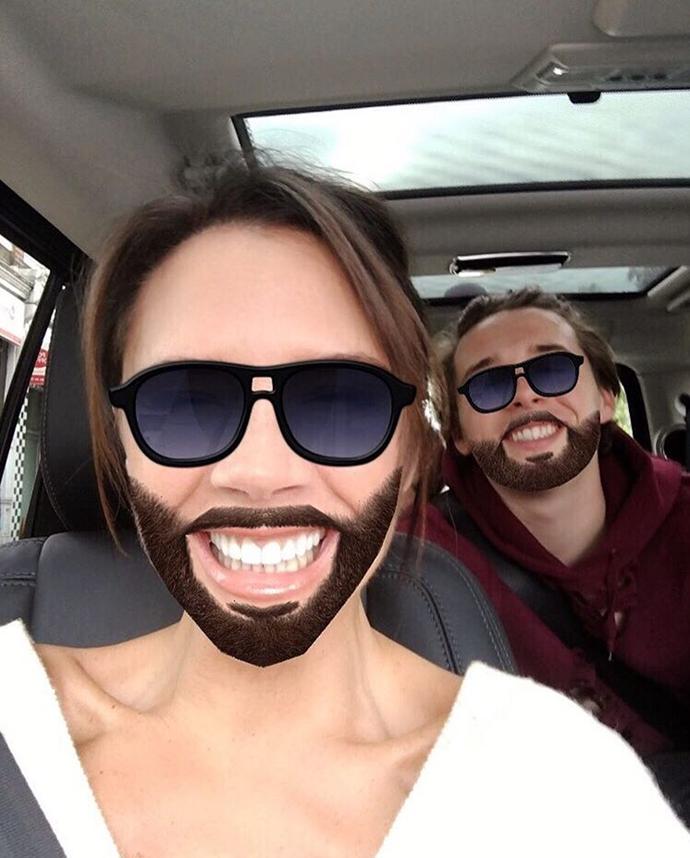 8. She also isn't afraid of a beard.