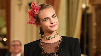 Cara Delevingne Went Full-Cara at The Chanel Metiers d'Arts Show