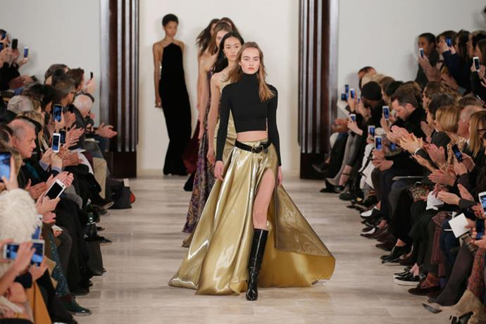 <strong>See-Now, Buy-Now Takes Over </strong> <BR><BR> The rise of see-now, buy-now runways completely shook up the Fashion Week calendar. An increasing number of designers—from Ralph Lauren and Tom Ford to Rebecca Minkoff and Tommy Hilfiger—opted to show current in-season collections that were ready to shop right from the runway, creating a seismic shift in the industry as a whole.