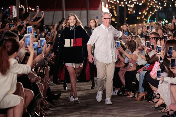<strong>Gigi x Tommy Team Up</strong> <br><br> In the biggest fashion collaboration of the year, Tommy Hilfiger tapped It model-of-the-moment Gigi Hadid for a blowout see-now, buy-now collection. The duo's collab came to life at New York Fashion Week in September with a huge carnival spectacle dubbed 'Tommy Pier' on South Street Seaport. With 700 attendees in tow and A-list appearances from Gigi's BFF Taylor Swift and more, the show was ready to shop immediately after the runway ended. After the brand saw major success from the show—a 900 percent increase in website traffic and double-digit growth in both retail and e-commerce performance—a second collaboration show was announced for February 2017, this time taking place in Los Angeles.