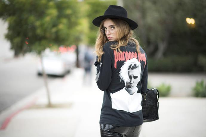 <strong>Merch Madness</strong> <br><br> From The Life of Pablo merch to Justin Bieber's Purpose Tour and even Kim Kardashian West launching her own, tour merchandise was inescapable this year. The trend dominated not only the street style scene but pretty much everywhere as the year's biggest trend that nobody could have predicted.
