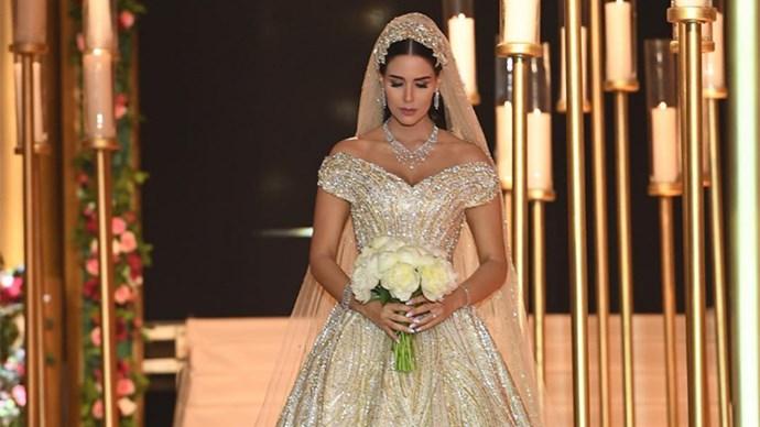 extravagant wedding dress dana wolley