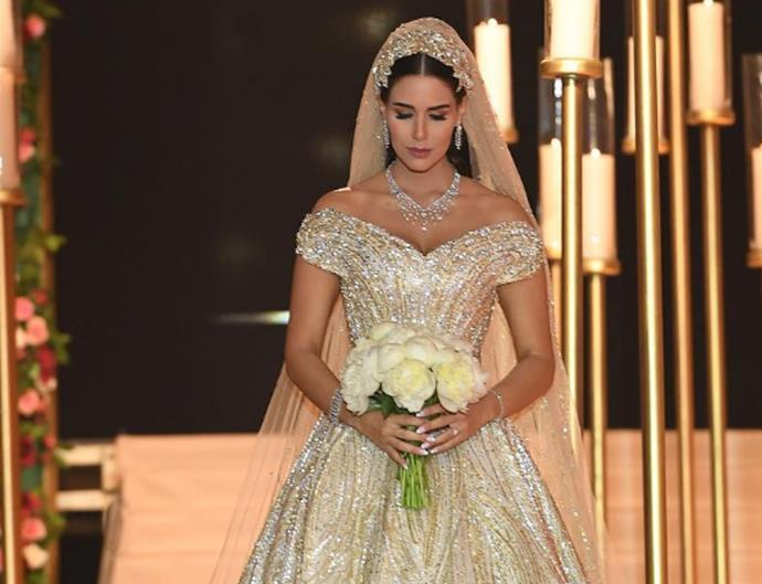 extravagant wedding dress dana wolley
