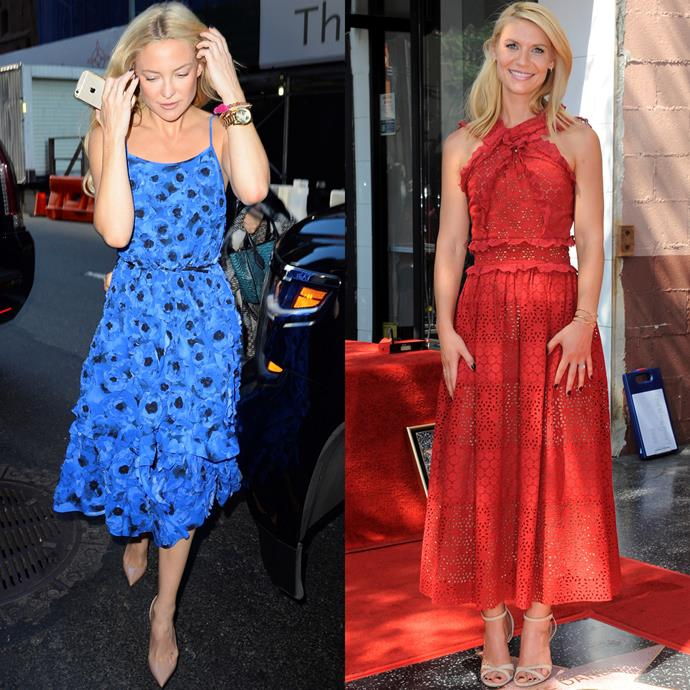 <strong>THE FEMININE SPRING DRESS</strong> <br><Br> Just as the weather is starting to warm up, you'll want to show your girly side in florals or a light lace. <br><Br> <em>Pictured: Kate Hudson, Clare Danes</em>