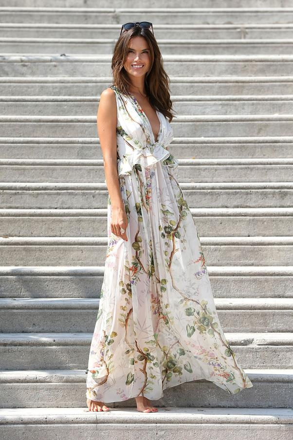 <strong>THE BREEZY BEACH DRESS</strong> <br><Br> This piece should go from the beach to brunch and any airy occasion in between. <br><Br> <em>Pictured: Alessandra Ambrosio</em>
