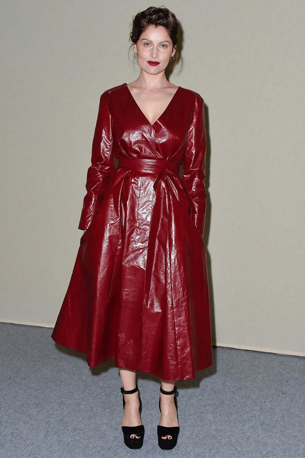 <strong>THE LUXE FALL DRESS</strong> <br><Br> Fall calls for a dress in a rich fabrication and hue—whether it be leather, velvet or cashmere—it should feel of the season. <Br><Br> <em>Pictured: Laetitia Casta</em>