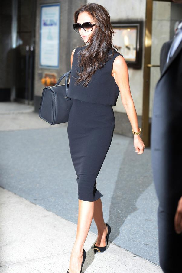 <strong>THE WORK DRESS</strong> <Br><Br> A good structured dress in black or navy will take you many work miles. <br><Br> <em>Pictured: Victoria Beckham</em>