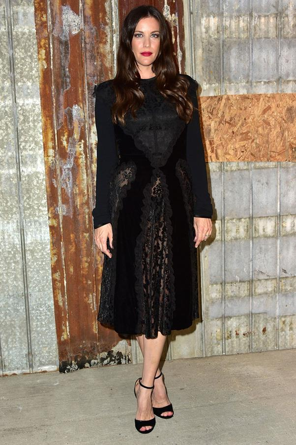 <strong>THE COCKTAIL DRESS</strong> <br><br> When it comes to that dress for date night or evening affairs opt for something special, but not too memorable (so you can wear it again and again) in black. <Br><br> <em>Pictured: Liv Tyler</em>
