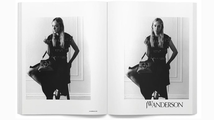 <strong>J.W.Anderson</strong><br><br> Modelled by Chloë Sevigny, shot by Jamie Hawkesworth.