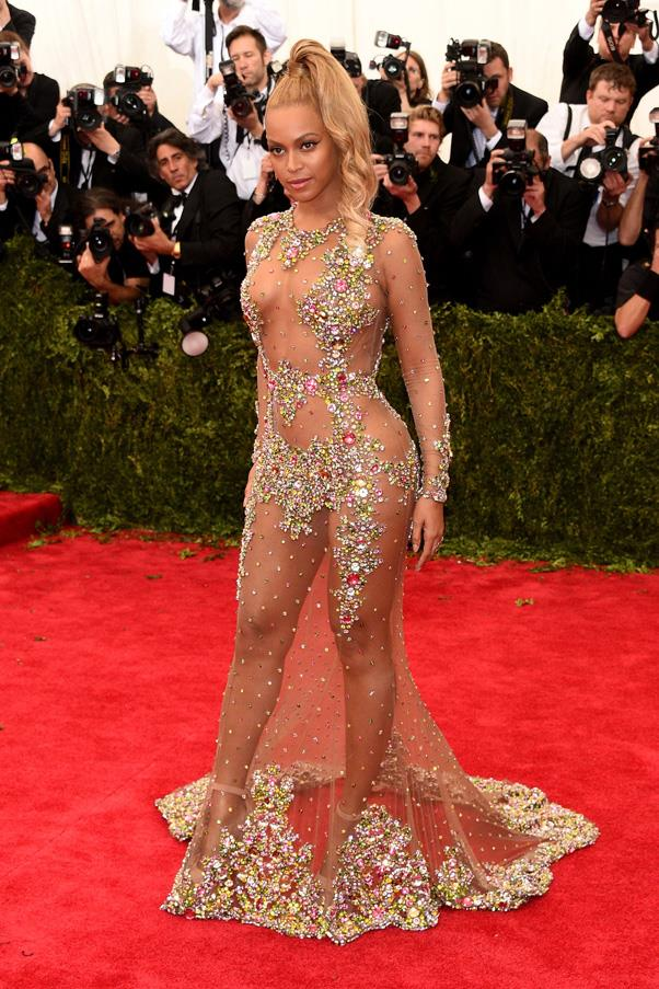 <strong>BEYONCÉ</strong> <br><br> Beyoncé proudly asserted her sexuality in a sequinned sheer dress by Givenchy at the 2015 Met Ball. However, the gown reportedly wasn't her first choice – on the way to the event, she apparently saw other guests' outfits and decided to scrap the red dress she had chosen and made her driver turn back so she could put on the Givenchy number instead.