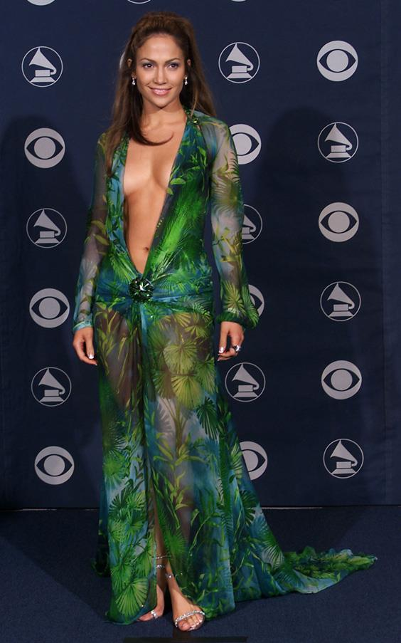 <strong>JENNIFER LOPEZ</strong> <br><br> The jungle-green Versace dress that Jennifer Lopez worn to the 2000 Grammys represented a turning point in Donatella Versace's career. It received international acclaim, especially after the singer revealed that she wore garment tape to ensure it stayed in position.
