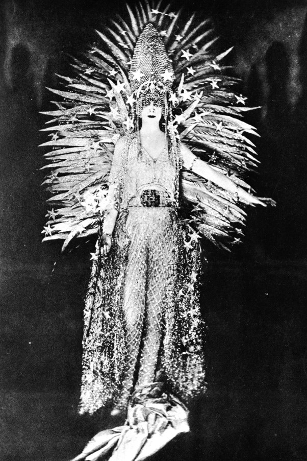 <strong>MARCHESA CASATI</strong> <br><br> The Italian heiress Marchesa Casati was known for her wild parties, pet cheetahs and bold sense of style – which included occasionally slipping on live snakes as necklaces. For a 1922 party, she wore a dress that may have inspired Rihanna's CFDAs look: a net of diamonds by Worth, with a gold-feather sun headdress set against a diamond tiara. Even her fringe was covered in jewels and glitter.