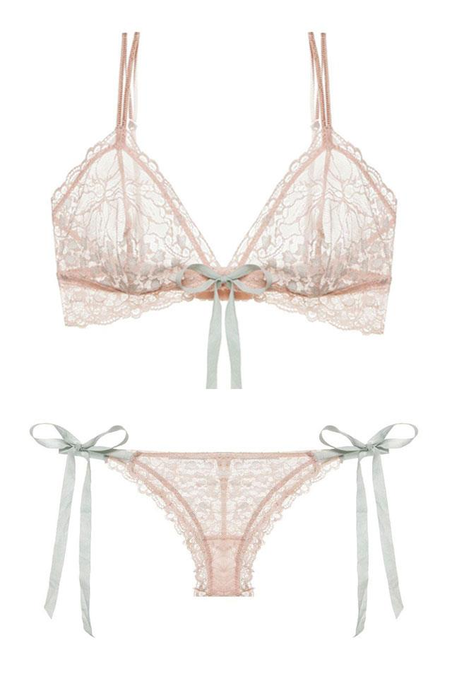 """<strong><a href=""""https://www.eberjey.com/"""">Eberjey</a></strong> <br></br> This brand pays homage to Parisian-inspired seduction with sheer lace panels, delicate bows and muted hues."""