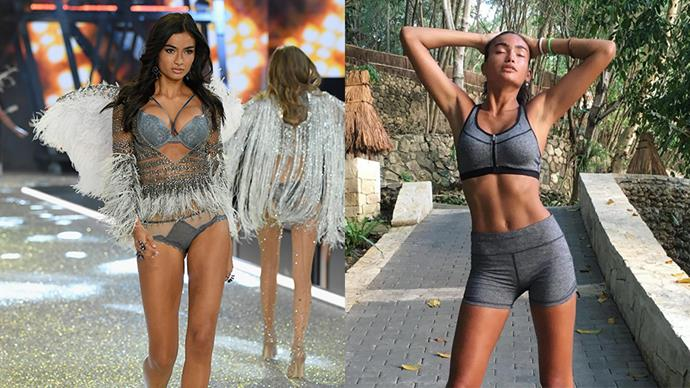 "<strong>Victoria's Secret model Kelly Gale</strong> <br><br> <strong>Food:</strong> ""I eat a lot of egg whites, a lot of seafood and chicken and turkey and a lot of vegetables and then I make sure to get vitamins and antioxidants from berries and spirulina."" However, everyone needs a vice and Gale's is dark chocolate. ""I eat dark chocolate every single day,"" she says. ""It's my favourite thing in the world and I can't stay away from it. Obviously, there are better kinds and there are worse kinds. In New York, LA, it's pretty easy to get raw, vegan chocolate."" <br><br> <strong>Fitness</strong>: ""I love to go for a long power walk in the morning and then I'll go and do a more strenuous work out like boxing,"" Gale said. ""I've been doing strength training at Dogpound in New York and I've also been going to Body by Simone which is a pilates workout with cardio intervals. I do a lot of different things. I find that if I change my routine up a lot, that's what keeps me in the best shape."""
