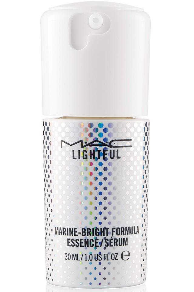 "Packed with the brightening powers of three types of seaweed, this essence-meets-serum is a powerful 3pm skin pick-me up. Spritz it all over. <a href=""http://www.maccosmetics.com.au/product/14779/34504/products/vips/lightful-c/lightful-c-marine-bright-formula-essence""> M.A.C Lightful Essence, $68	</a>"