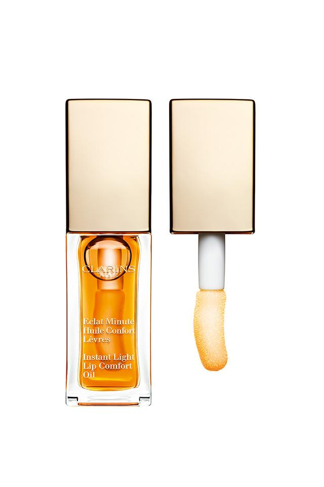 "Oil is the new everything when it comes to lip care. Organic jojoba oils leave air con-affected lips enveloped in an intensely hydrating film that doesn't throw too much gloss. <a href=""http://int.clarins.com/en/instant-light-lip-comfort-oil/C050303007.html"">Clarins Instant Light Lip Comfort Oil, $33. </a>"