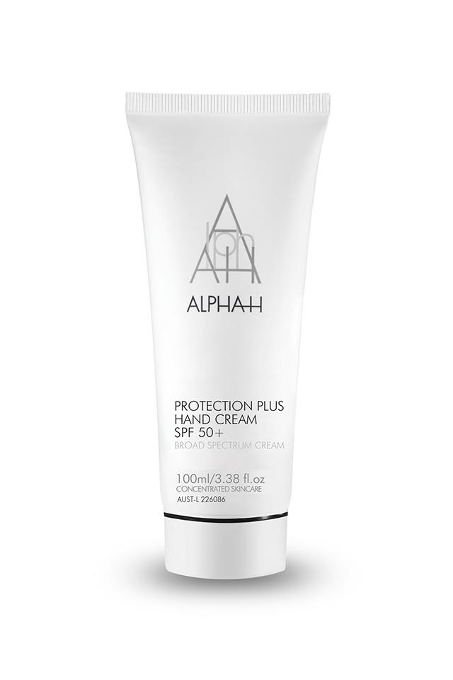 "An SPF 50+ hand cream is hard to come by, but an absolute essential.  This one's packed with vitamin C to suppress melanin production, keeping pigmentation at bay. <a href=""https://www.alpha-h.com/Products/Products/Body/Protection-Plus-Hand-Cream-SPF-50.aspx"">Alpha-H Protection Plus Hand Cream SPF 50+, $59.95.</a>"