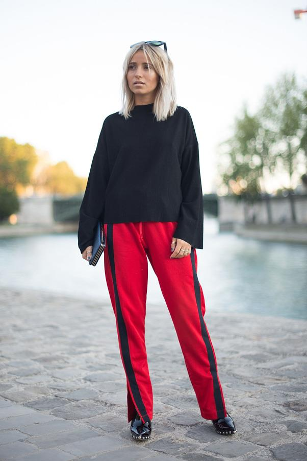 Paris fashion week street style.
