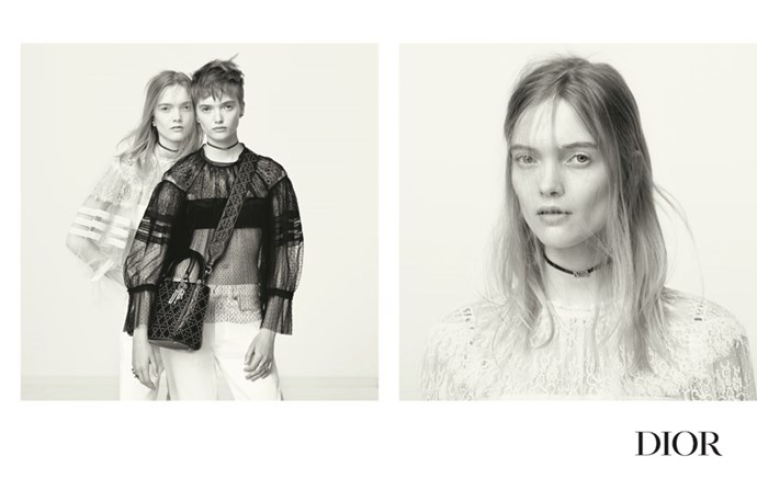 <strong>Dior</strong> <BR><BR> Shot by Brigitte Lacombe and modeled by twins, Ruth and May Bell, Maria Grazia Chiuri's first collection at the helm of Dior is, as expected, all about empowering women of today.