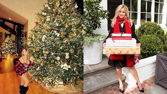 Here, how celebrities are getting into the festive spirit in the lead up to Christmas.