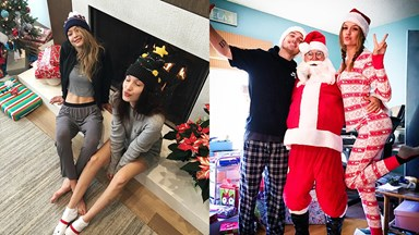 This is How Models Get in the Christmas Spirit