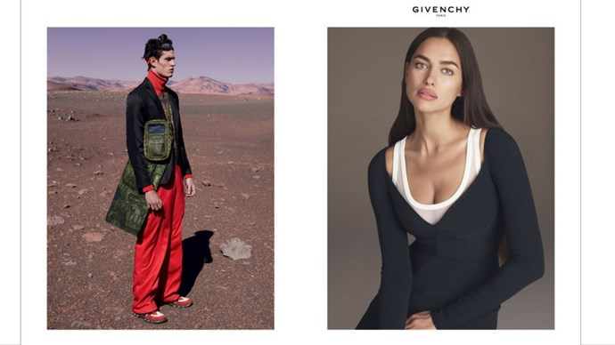 <strong>Givenchy</strong><br><br> Modelled by Mariacarla Boscono and Irina Shayk, styled by Carine Roitfeld, shot by Mert Alas and Marcus Piggott.