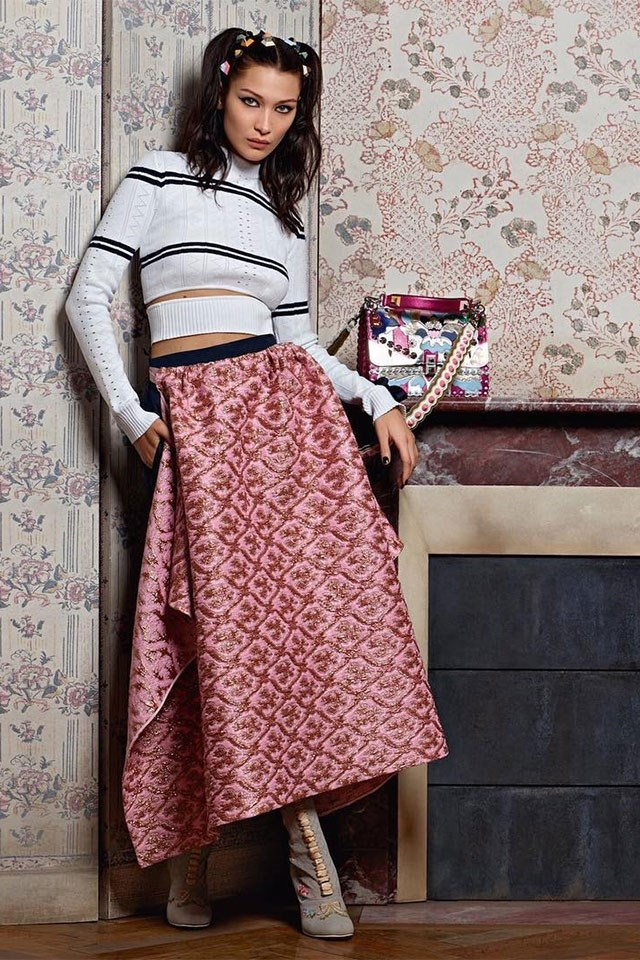 <strong>Fendi</strong> <br></br> Modelled by Bella Hadid, shot by Karl Lagerfeld.