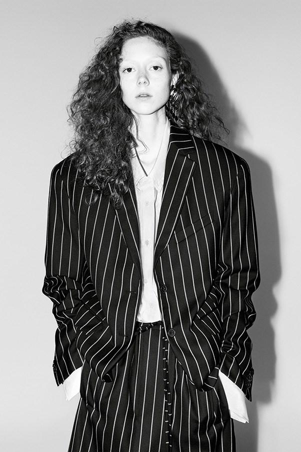 <strong>Jil Sander</strong><br><br> Modelled by Natalie Westling, shot by Willy Venderperre.