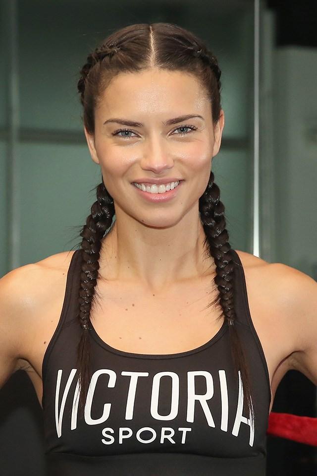 Adriana Lima, workout makeup Harper's Bazaar Australia