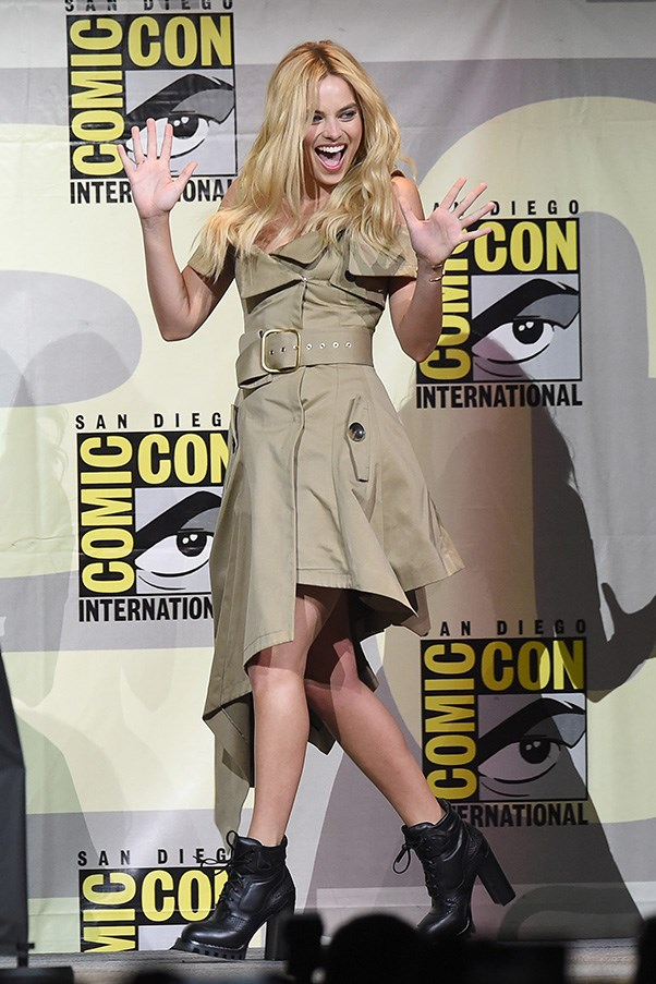 Margot Robbie at San Diego Comic Con.