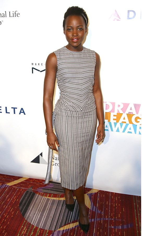 Lupita Nyong'o at the annual Drama League awards.