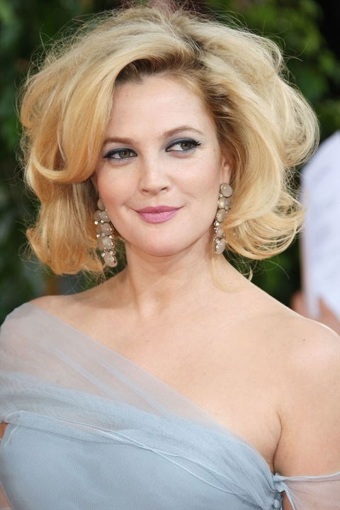 <strong>DREW BARRYMORE</strong>  <br><br> Drew Barrymore's voluminous blonde bob in 2009—you either loved it or you hated it. For the record, we think it's one of the best red carpet hair moments of all time.