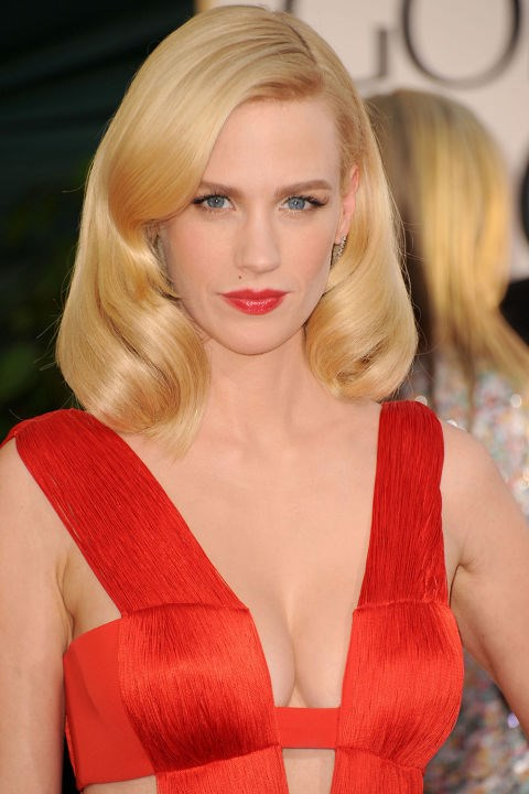 <strong>JANUARY JONES</strong>  <br><br> January Jones proved that she was far more of a bombshell than her housewife counterpart Betty Draper in this red-hot 2011 number.