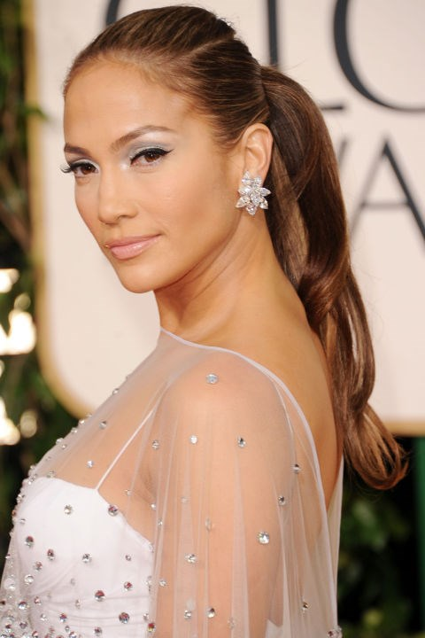 <strong>JENNIFER LOPEZ</strong> <br><br> There are very few people that can pull-off a glamorous red carpet ponytail. And even fewer who can wear frosty eye makeup with the utmost elegance and grace. Jennifer Lopez can truly do (and wear) it all.