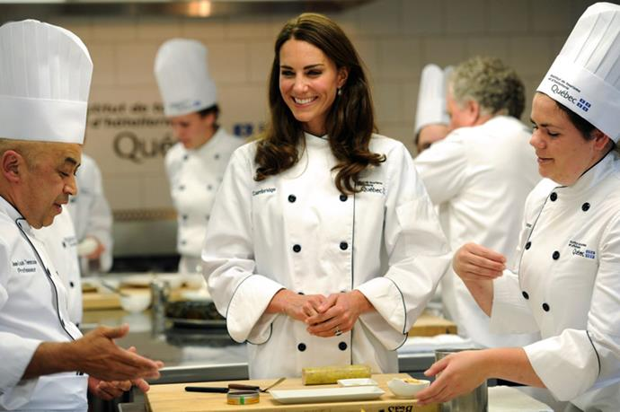 "<strong>SHE LOVES A GOOD CURRY</strong> <BR><BR> According to Carolyn Robb, chef to the royal family for over a decade, William enjoys spending time with Kate and her family because they eat together at the kitchen table like a normal family. The Duchess seems to have developed a love of cooking (curries, especially) and hosting meals where she personally serves her guests, but Prince William still teases her cooking, proclaiming, ""It's the reason I'm so skinny!"""