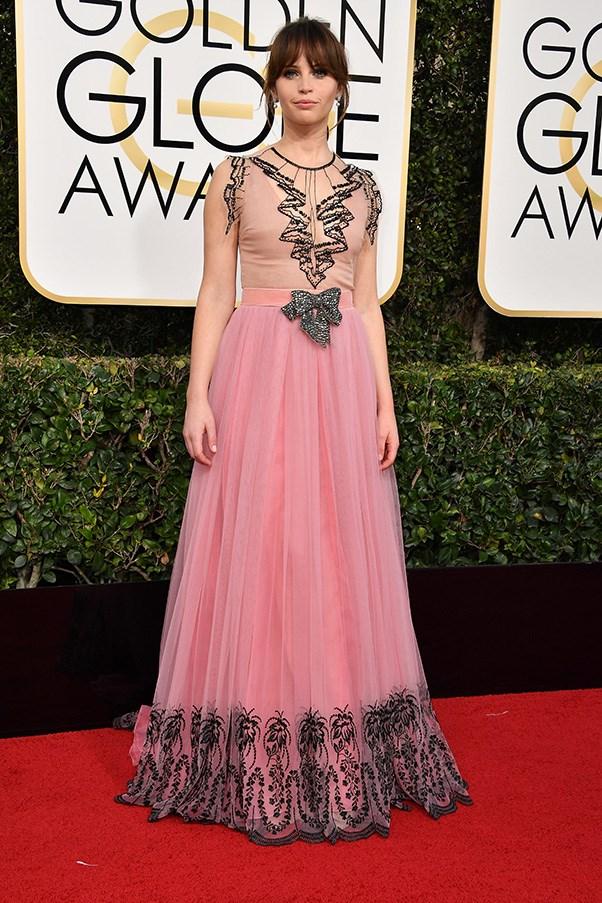 Felicity Jones in Gucci and Chanel fine jewellery