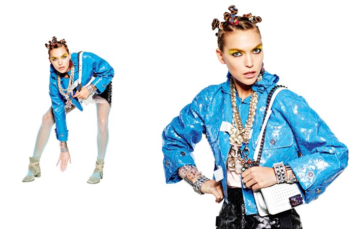 <strong>Chanel</strong> <br><br> Modelled by Arizona Muse, shot by Karl Lagerfeld.