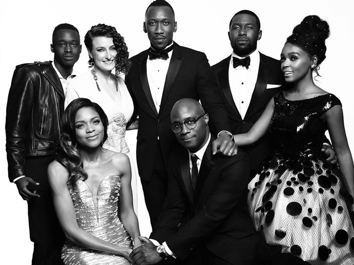 "The cast and crew of <em>Moonlight</em>. <br><br> Image: <a href=""https://www.instagram.com/p/BPCMfeuj7G1/"">@goldenglobes</a>"