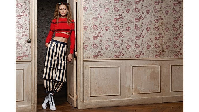 <strong>Fendi</strong><br><br> Modelled by Gigi Hadid, shot by Karl Lagerfeld.