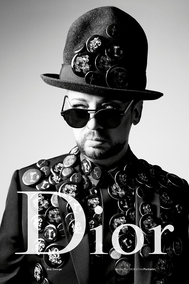 <strong>Dior Homme</strong><br><br> Modelled by Boy George, shot by Willy Vanderperre.