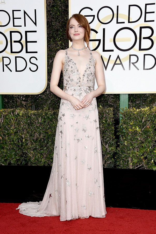 <strong>Embellished Elements:</strong><br><br> A-listers took 'embellishment' one step further, specifically adding sequinned motifs found in nature. Cue: Emma Stone in stars, Nicole Kidman with a wave and Thandie Newton lapped by flames. <br><br> Emma Stone in Valentino