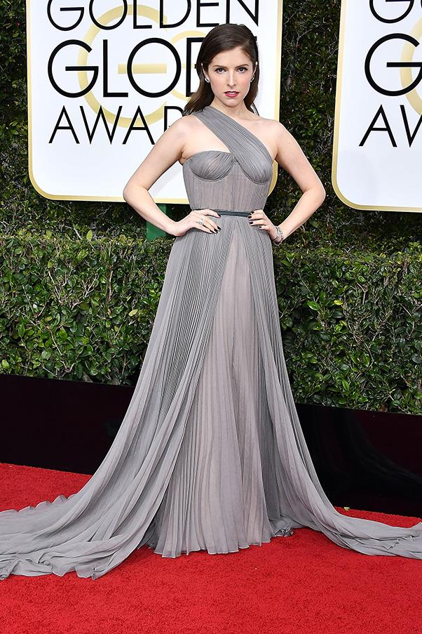 <strong>Imperial Chic</strong><br><br> Evidence of Hollywood's obsession with all things <em>Star Wars</em> (exacerbated by the passing of the late, great Carrie Fisher no doubt) was evident on the red carpet, whether it was Ruth Negga in a C3PO-style metallic gown or Anna Kendrick looking capital 'I' imperial in drapey Vionnet.<br><br> Anna Kendrick in Vionnet