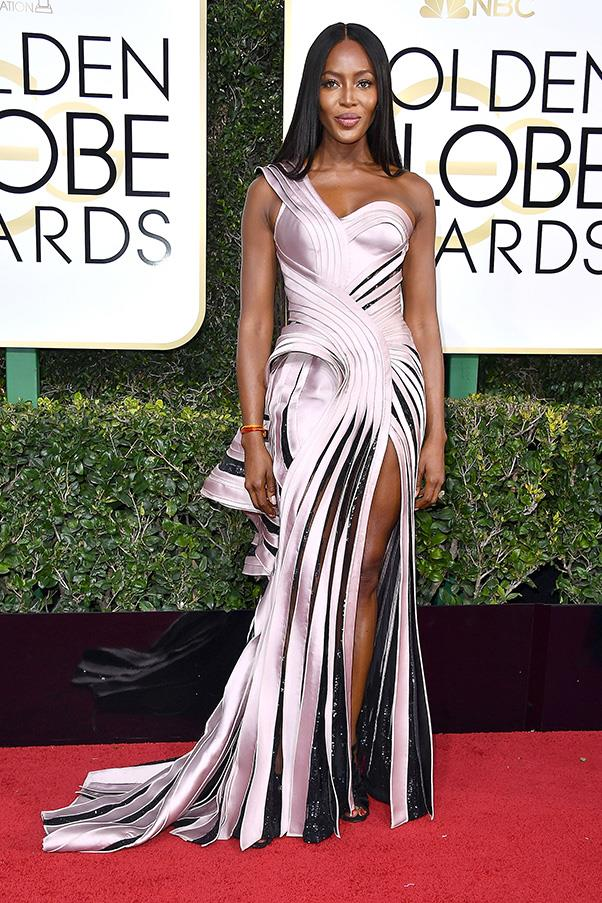 <strong>Imperial Chic</strong><br><br> Evidence of Hollywood's obsession with all things <em>Star Wars</em> (exacerbated by the passing of the late, great Carrie Fisher no doubt) was evident on the red carpet, whether it was Ruth Negga in a C3PO-style metallic gown or Anna Kendrick looking capital 'I' imperial in drapey Vionnet.<br><br> Naomi Campbell in Atelier Versace