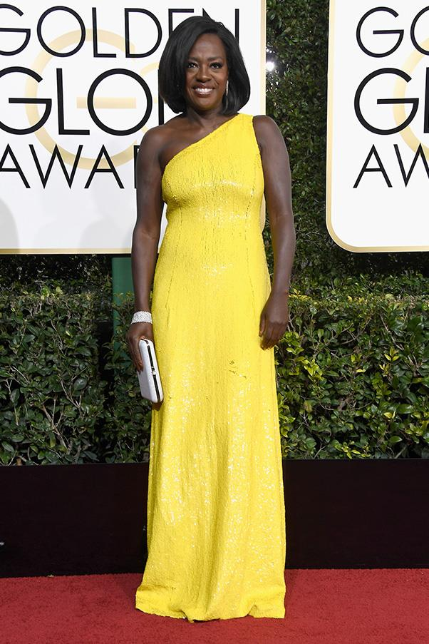 <strong>Canary Yellow</strong><br><br> The most surprising trend of the day? The overwhelming amount of yellow seen on the red carpet. Emily Ratajkowski, Reese Witherspoon and a glowing Natalie Portman in Prada were among the touters of the bright hue.<br><br> Viola Davis in Michael Kors Collection