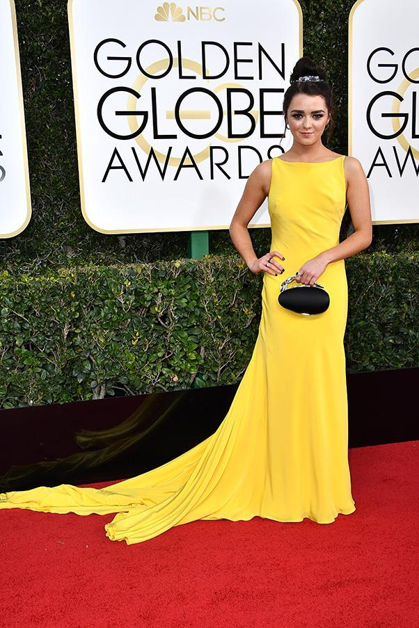 <strong>Canary Yellow</strong><br><br> The most surprising trend of the day? The overwhelming amount of yellow seen on the red carpet. Emily Ratajkowski, Reese Witherspoon and a glowing Natalie Portman in Prada were among the touters of the bright hue.<br><br> Maisie Williams