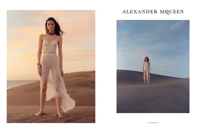 <strong>Alexander McQueen</strong> <BR><BR> Modelled by Vittoria Ceretti, shot by Jamie Hawkesworth.