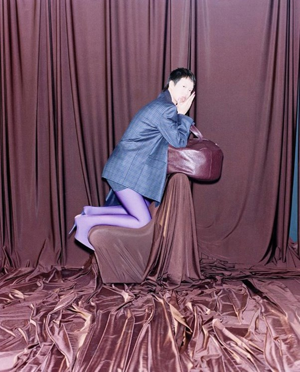 <strong>Balenciaga</strong> <BR><BR> Modelled by Alek Wek, Shujing Zhou and Eliza Douglas, shot by Harley Weir.