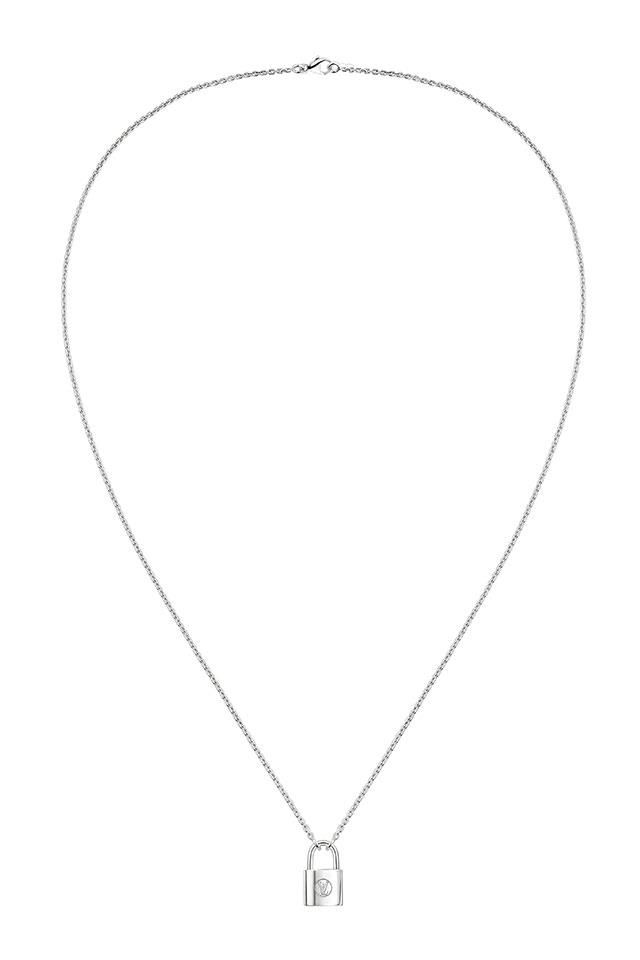 """For every piece sold from the new 'Lockit' range, $300 is donated to UNICEF. Louis Vuitton's <a href=""""http://au.louisvuitton.com/eng-au/products/silver-lockit-pendant-sterling-silver-012684"""">#MakeAPromise Pendant</a>, $1000."""