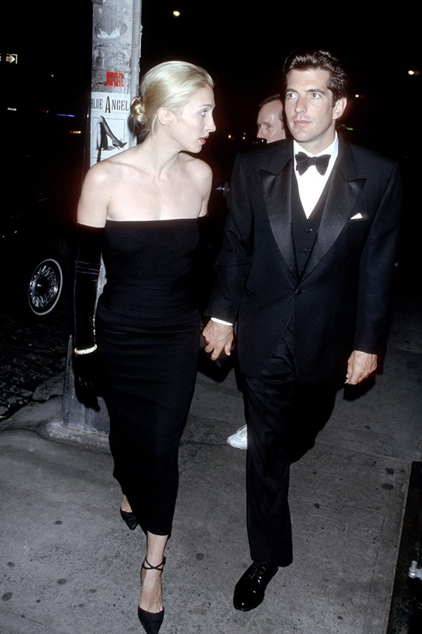 At an event with husband John F. Kennedy Jr., 1998